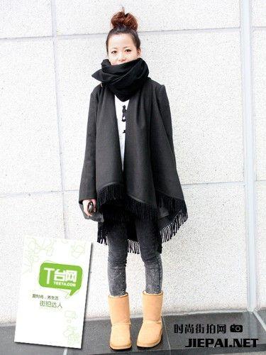 11月上海街拍 海派甜心女孩穿衣集
